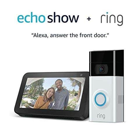 Ring Video Doorbell 2 with Echo Show 5 (Charcoal) $160