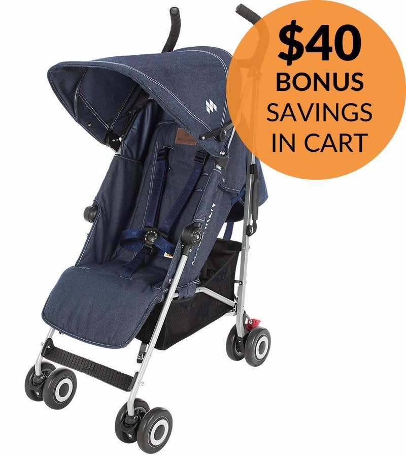Maclaren 2017 quest stroller – denim only $159.99 + free shipping!