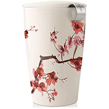 Tea Forte KATI Single Cup Loose Tea Brewing System, Ceramic Cup with Tea Infuser and Lid, Cherry Blossoms - Amazon - 13.58 $13.58