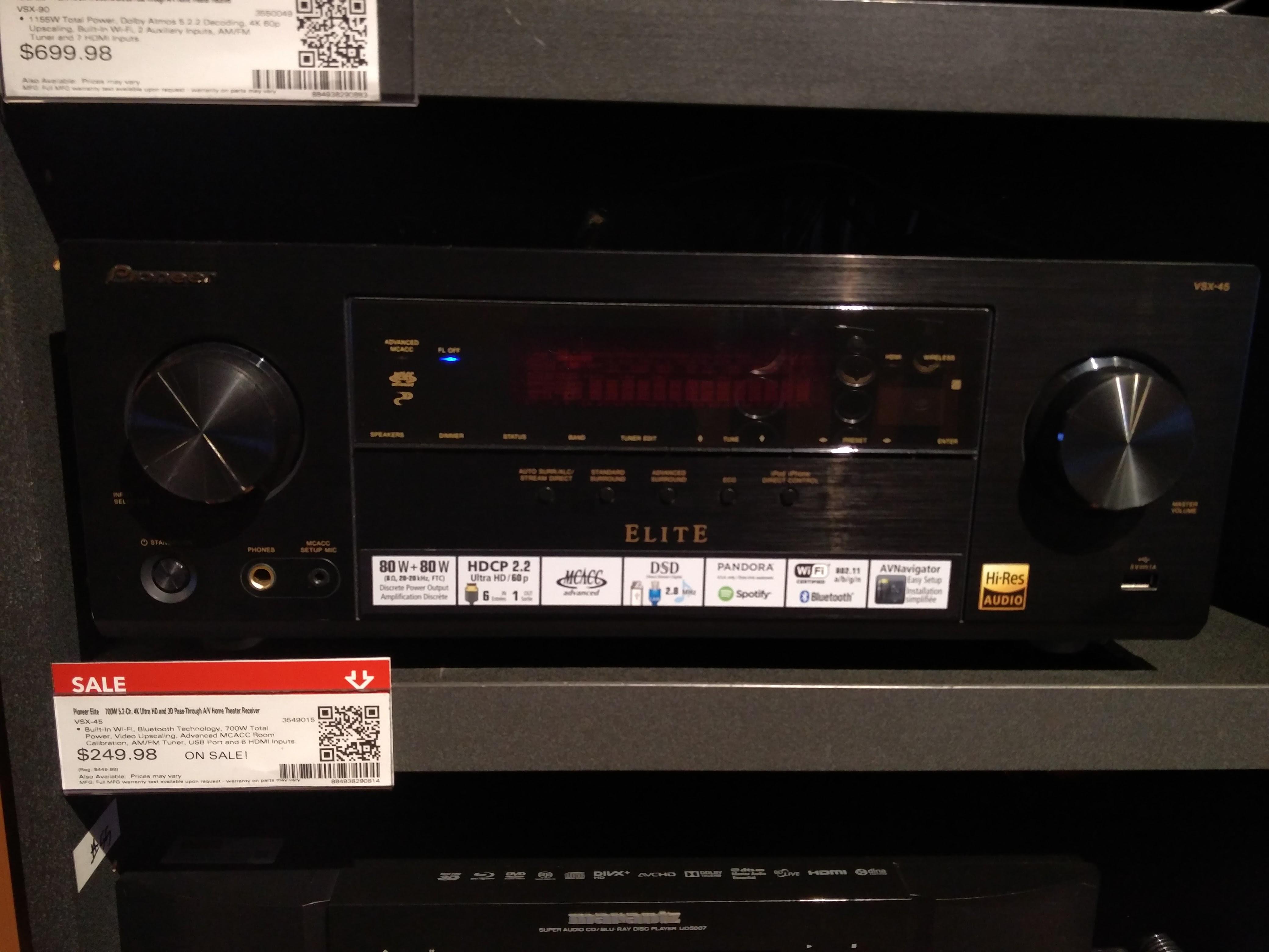 Pioneer Elite VSX-45 - $249.98 @ Best Buy Instore YMMV - bb.com will PM instore price