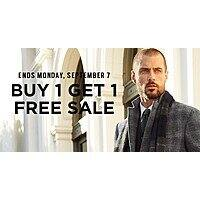 Men's Wearhouse Deal: Men's Wearhouse b1g1 free sale, ends sept 7.  2x suits from $50, 2x dress shirts from $20