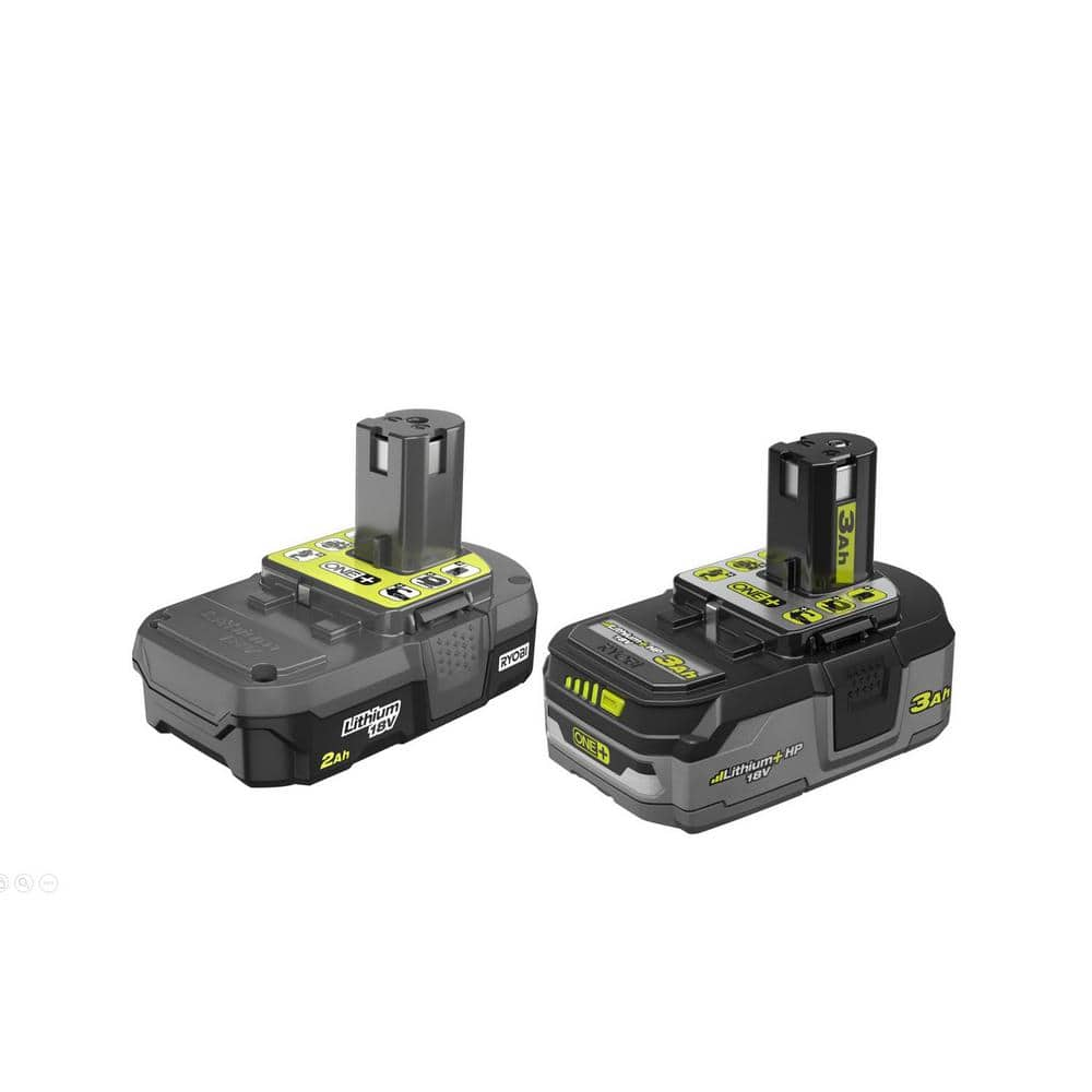 Ryobi 18-Volt ONE+ 2.0 Ah Lithium-Ion Compact Battery and 3.0 Ah Lithium-Ion LITHIUM+ HP High Capacity Battery - $79 shipped