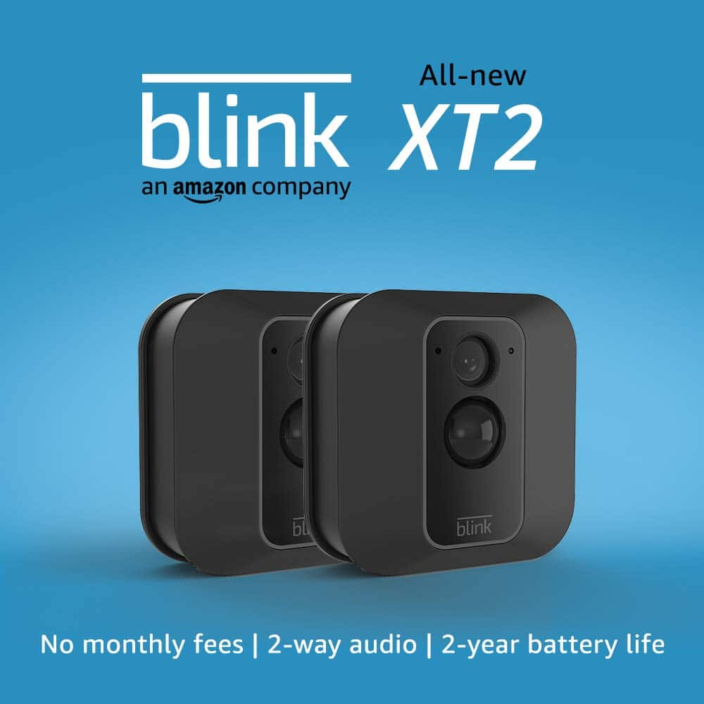 Amazon Blink XT2 Indoor/Outdoor Camera w/ 2-way audio, unlimited cloud storage, 2 year battery life $99