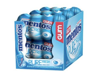 Prime members: 6-pack 50 count Mentos Pure Fresh Mint Gum $8.42 w/ coupon and S&S + FS