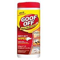 Home Depot Deal: Goof Off Heavy Duty Wipes 1¢ and Goof Off Pro-Strength 4.5oz 57¢ with printable coupons at Home Depot B&M YMMV