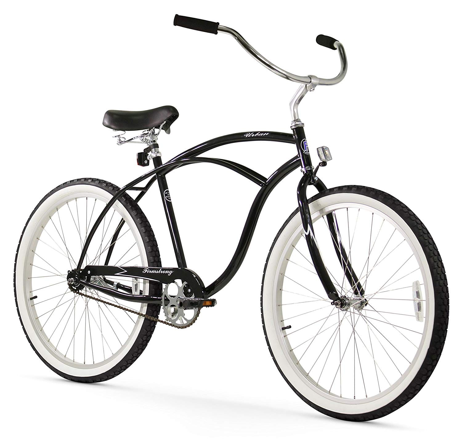 Firmstrong Urban Man Single Speed Beach Cruiser Bicycle, 26-Inch, Black only - Amazon $143.60