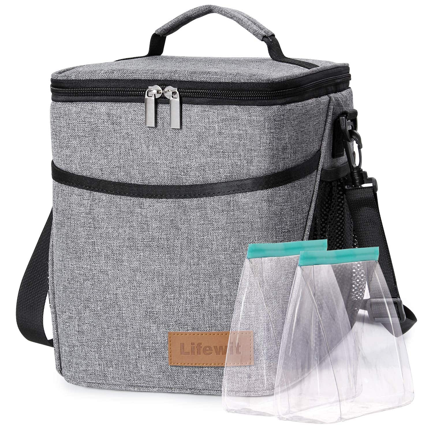 Amazon: 9L Lunch Box for Adult Insulated Large Lunch Bag Leakproof Thermal Bento Bag (Grey) $9.85 Free Shipping.
