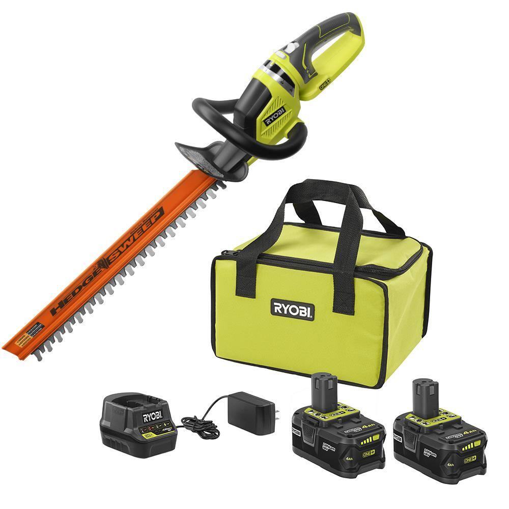 18-Volt ONE+ High Capacity 4.0 Ah Battery (2-Pack) Starter Kit with Charger and Bag with FREE ONE+ Hedge Trimmer NOW AVAILABLE ONLINE $99