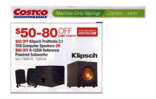 Klipsch R-12SW Reference Powered Subwoofer $169.99 @ Costco - Now Live!!