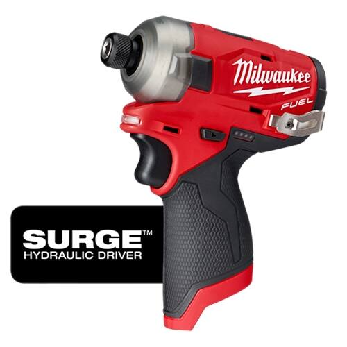 "Milwaukee M12 Fuel Surge ¼"" Hex Hydraulic Driver (Bare Tool, 2551-20), $112.12"