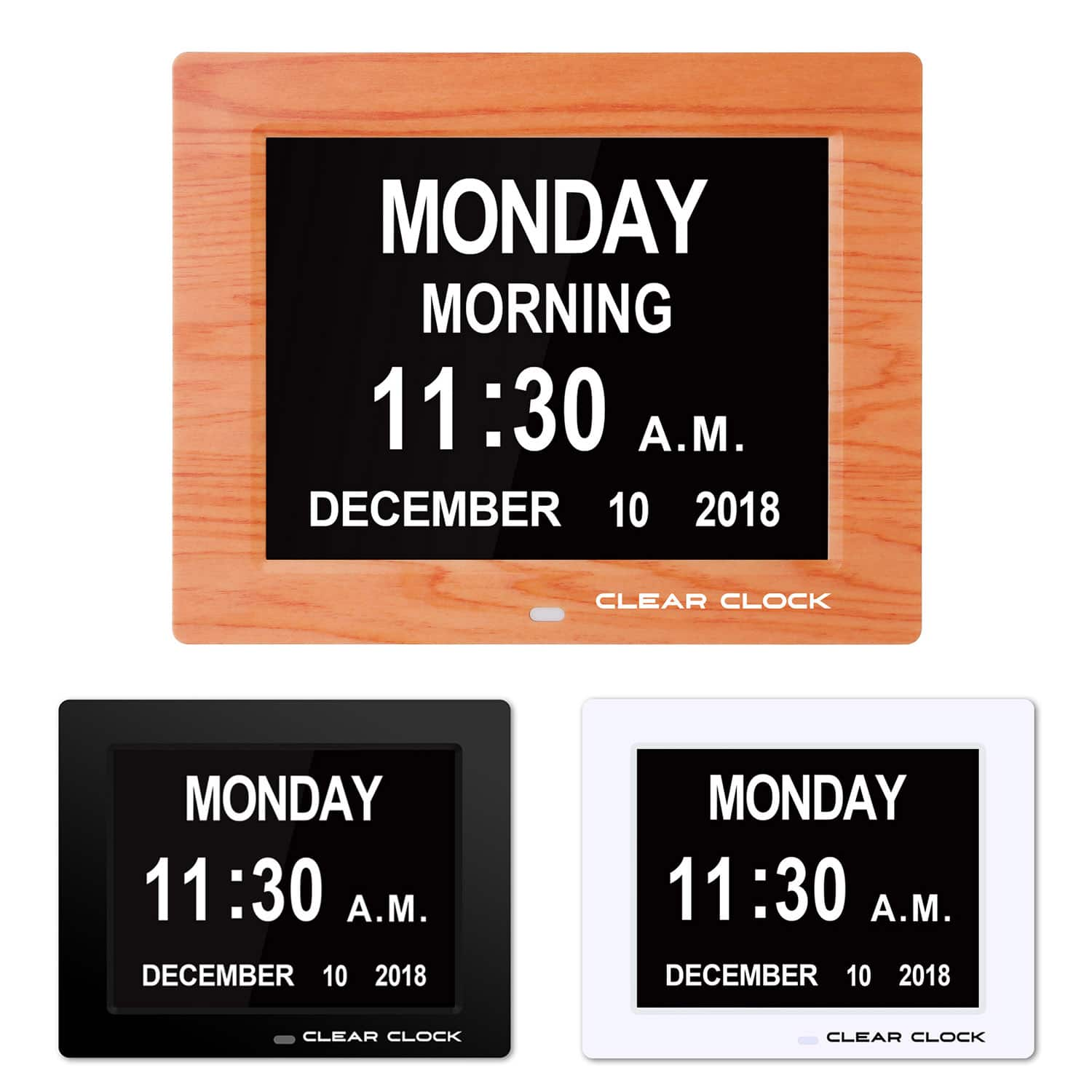 Clear Clock Digital Memory Loss Clock Great for the elderly and vision impaired large display No Abbreviations $34.99
