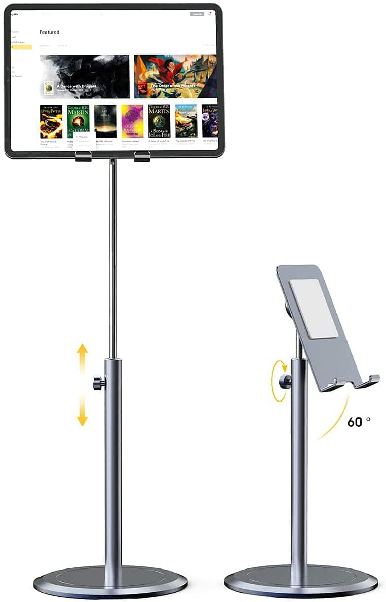 Amazon.com: Tablet Stand Holder, Licheers iPad Holder Stand for Desk with 10X Stable Base, Adjustable Height Cell Phone Stand Compatible with iPad Mini Air $11.19