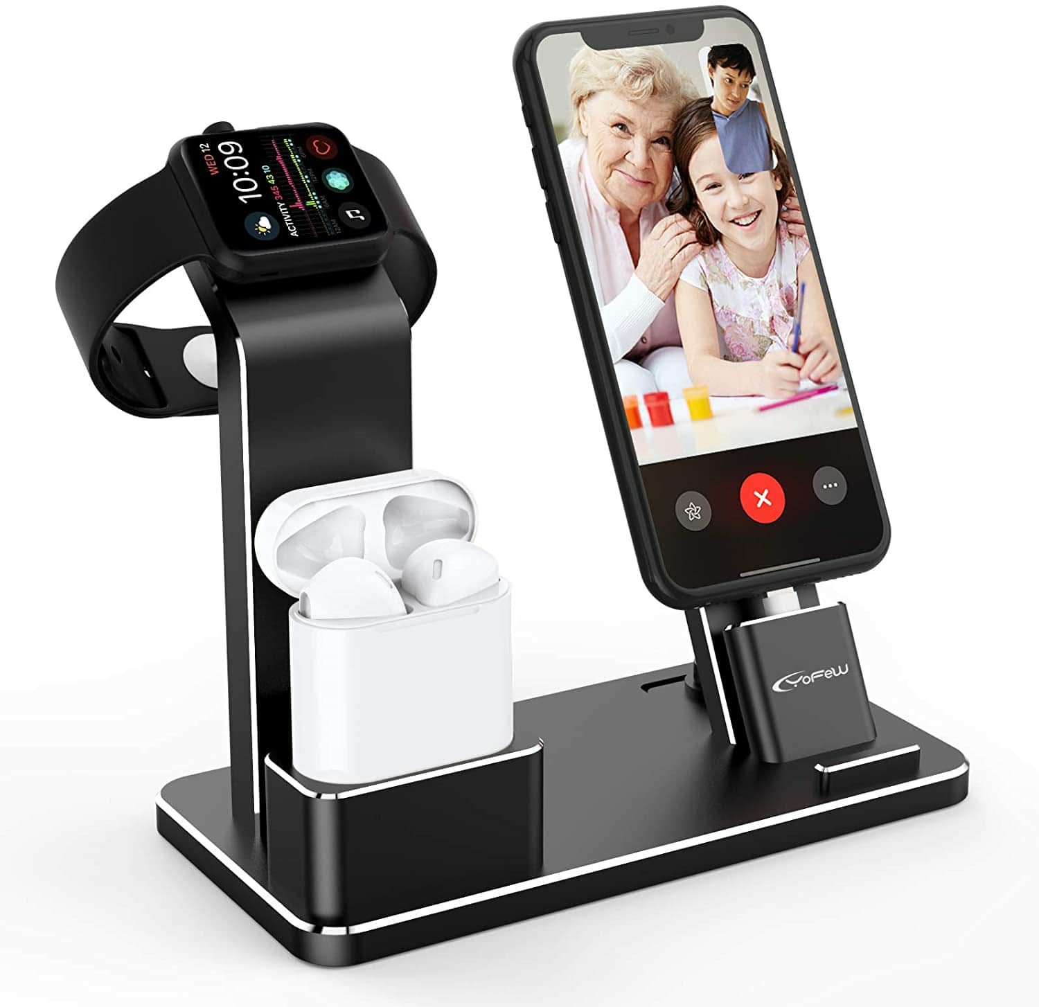 Amazon.com: YoFeW Charging Stand Aluminum Dock Station Compatible for iWatch Apple Watch Series 4/3 / 2/1/ AirPods/AirPods Pro/iPhone X/XS/XS Ma /8 / $16.99