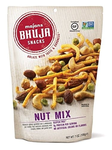 Majans Bhuja Gluten Free Snack Mix, Non-GMO | No Preservatives | Vegetarian Friendly | No Artificial Colors or Flavors, Nut Mix, 7 Ounce (Pack of 6) $13.68