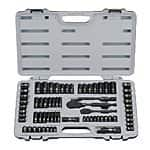 Stanley Black Chrome and Laser Etched Socket Set - Amazon - 69-Piece for $45, 99-Piece for $70