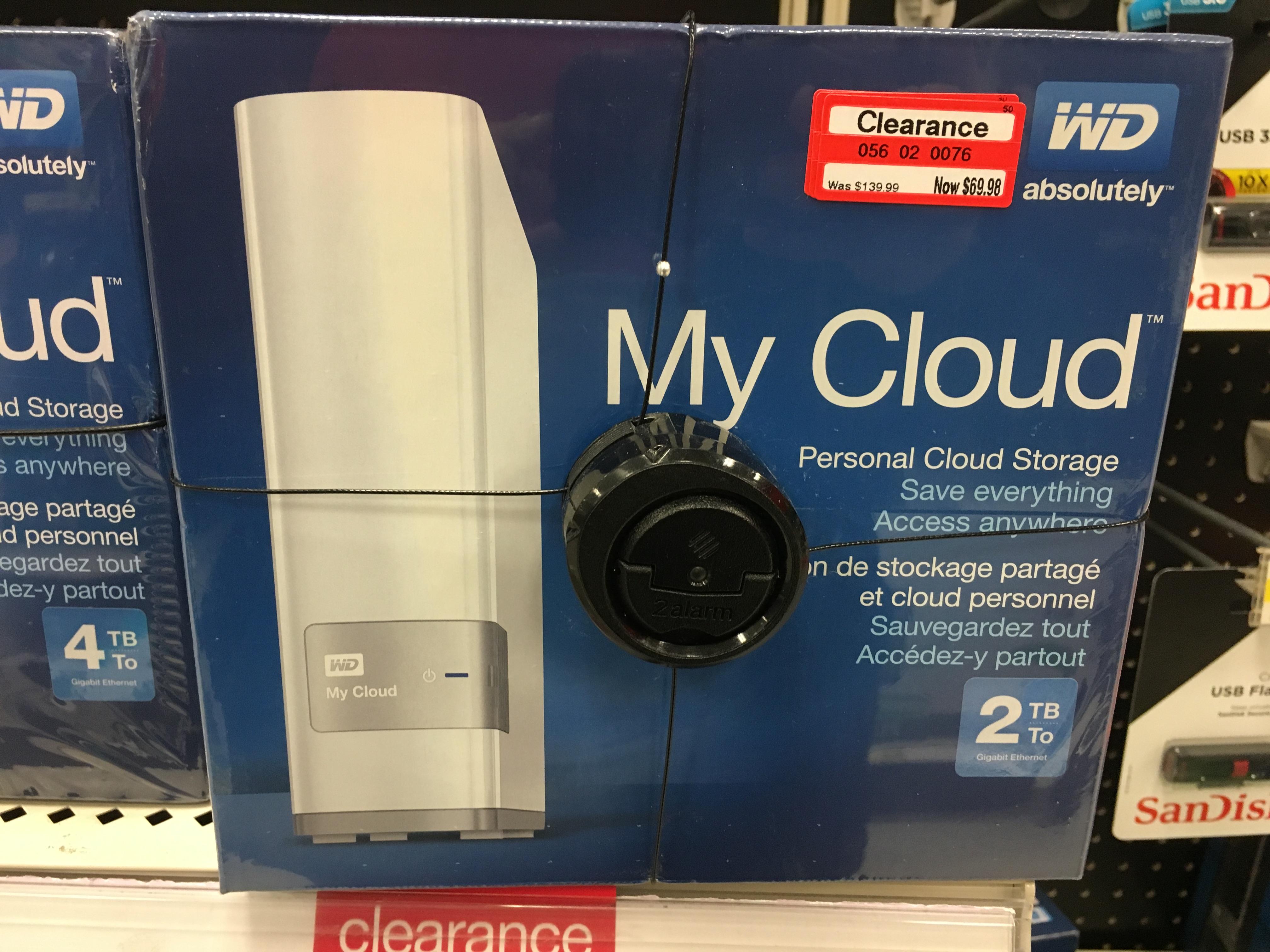 WD 2TB My Cloud Personal Cloud Storage at Target $69.98 YMMV B&M