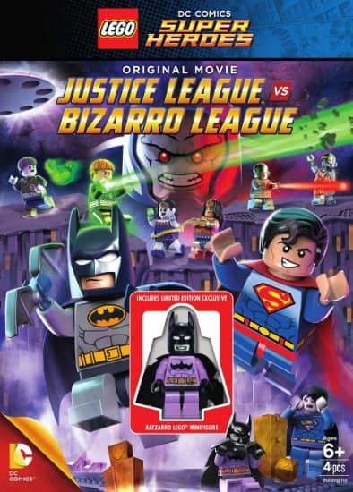 LEGO : DVD DC Comics Super Heroes: Justice League vs. Bizarro League Movie with limited edition minifigure $6 free shipping with Prime/Amazon