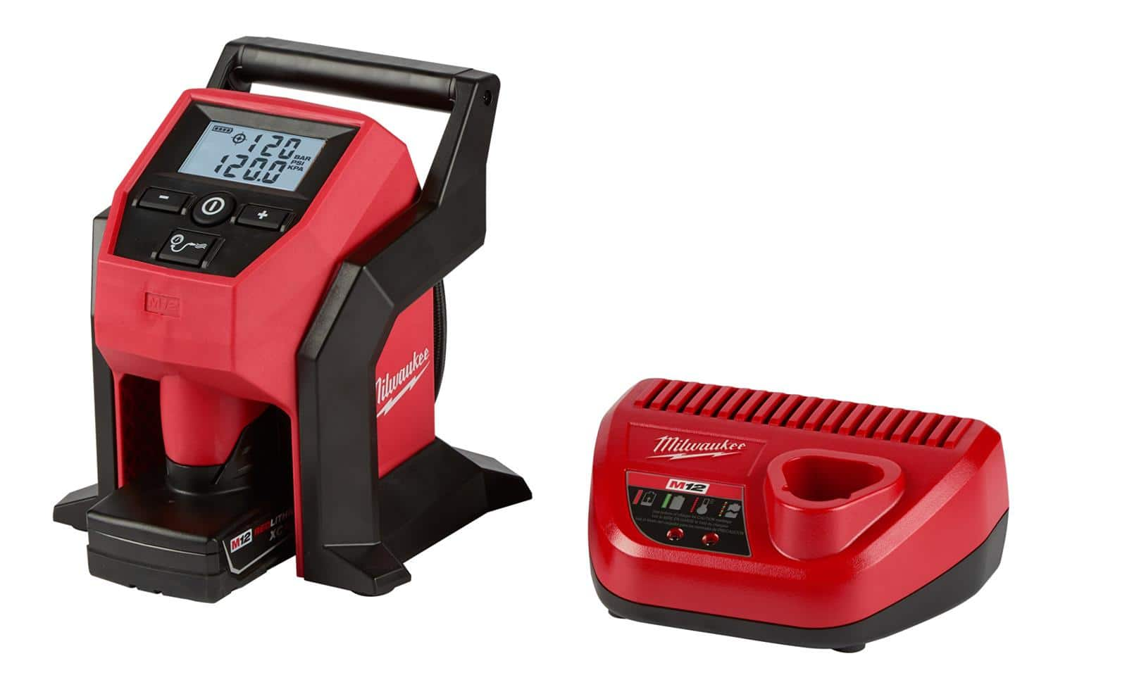 Milwaukee M12 Inflator kit including large 4ah XC battery and charger - $99 shipped