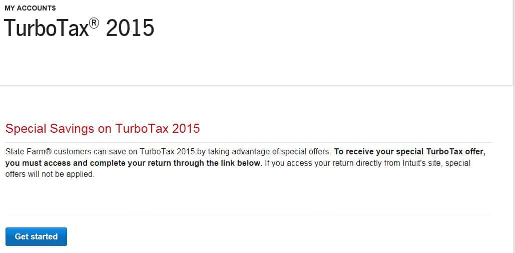 Online TurboTax Deluxe 2015 FREE for State Farm Bank customers, up to 67% discount on download versions ($30 for Premier)