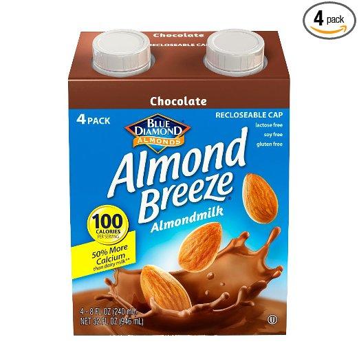 Add On: Blue Diamond Dairy Free Almond Breeze Almondmilk, Chocolate, 8 Ounce (Pack of 4) $1.87