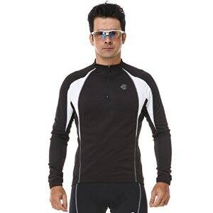 Men's Black Breathable Long/Short Sleeve Cycling Jersey for $15 AC