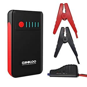 GOOLOO 12000mAh Car Jump Starter Power Bank( up to 5.0L Gas or 3L Diesel Engine) $39.99 with Free Prime Shipping