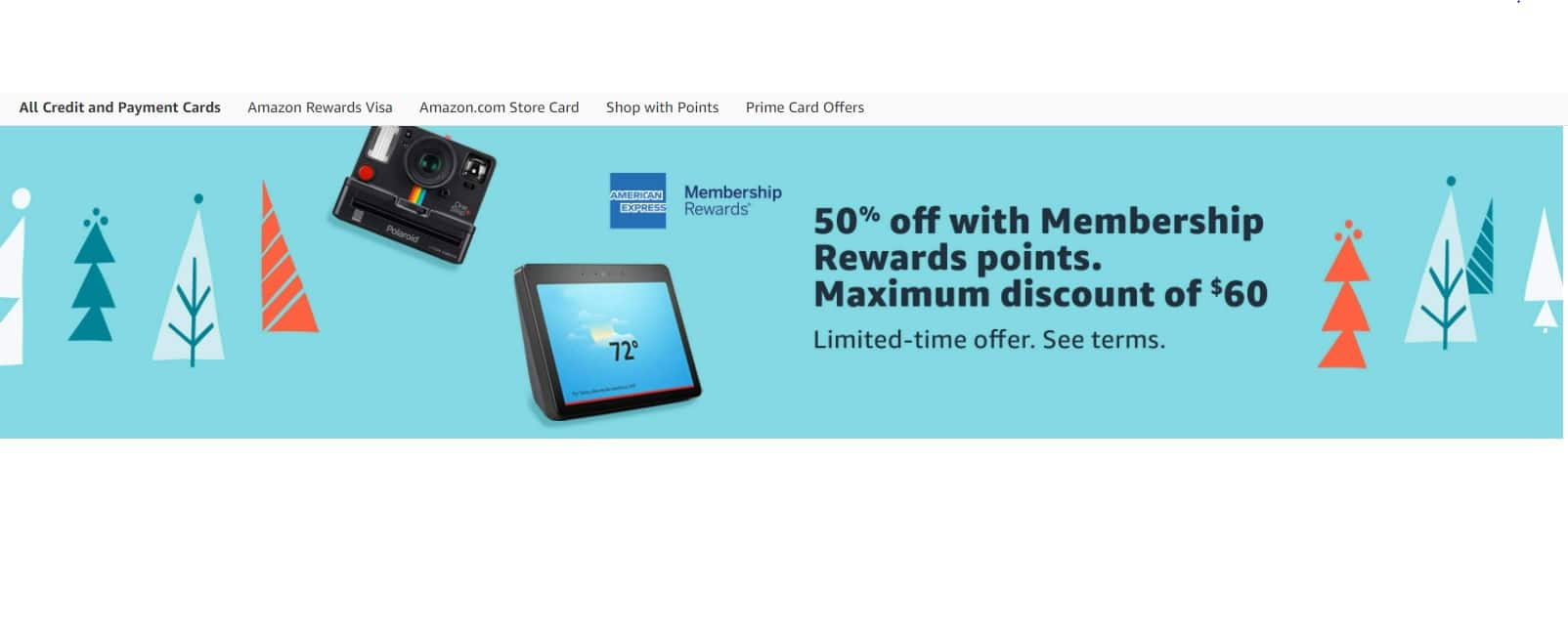 (YMMV) Amex Membership Reward 50% off Purchase on Items Sold by Amazon with Membership Rewards Points - Max Discount of $60