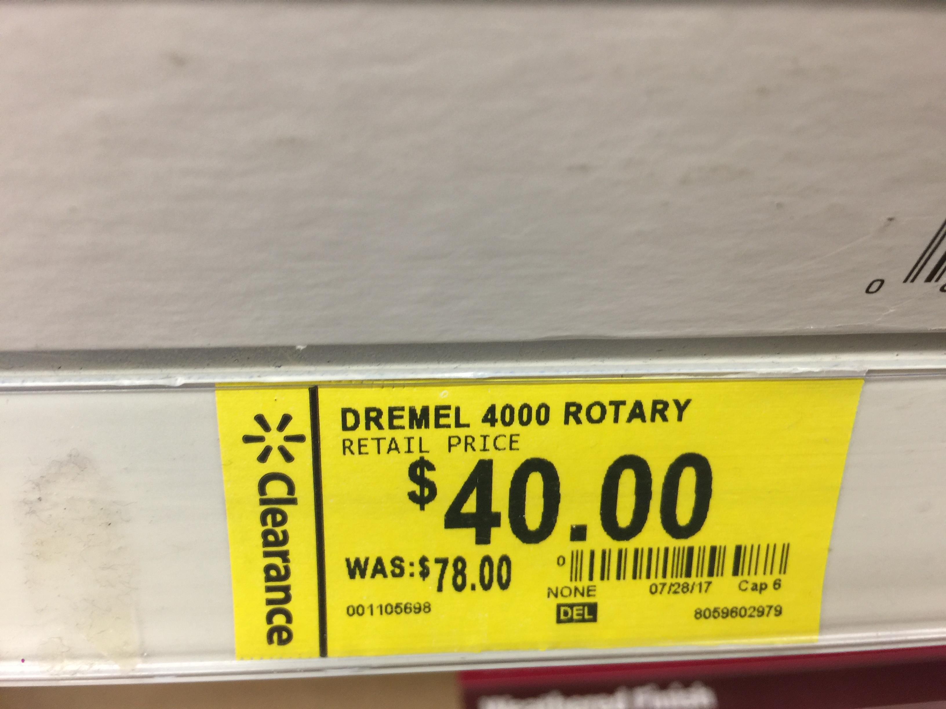 Dremel 4000 $40 @ Walmart YMMV