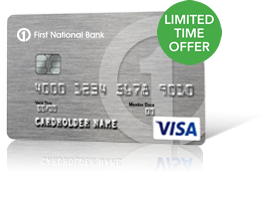 2% Unlimited Cash Back Visa from First National Bank