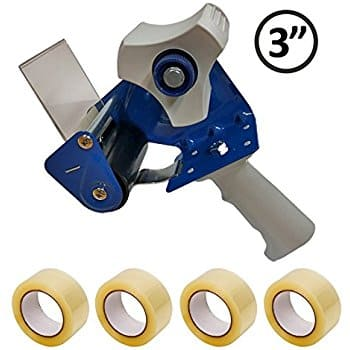 """3 """" core Heavy Duty Metal Packing Tape Gun + 4 Rolls of 3"""" Clear Packing Tape $20 @ amazon"""