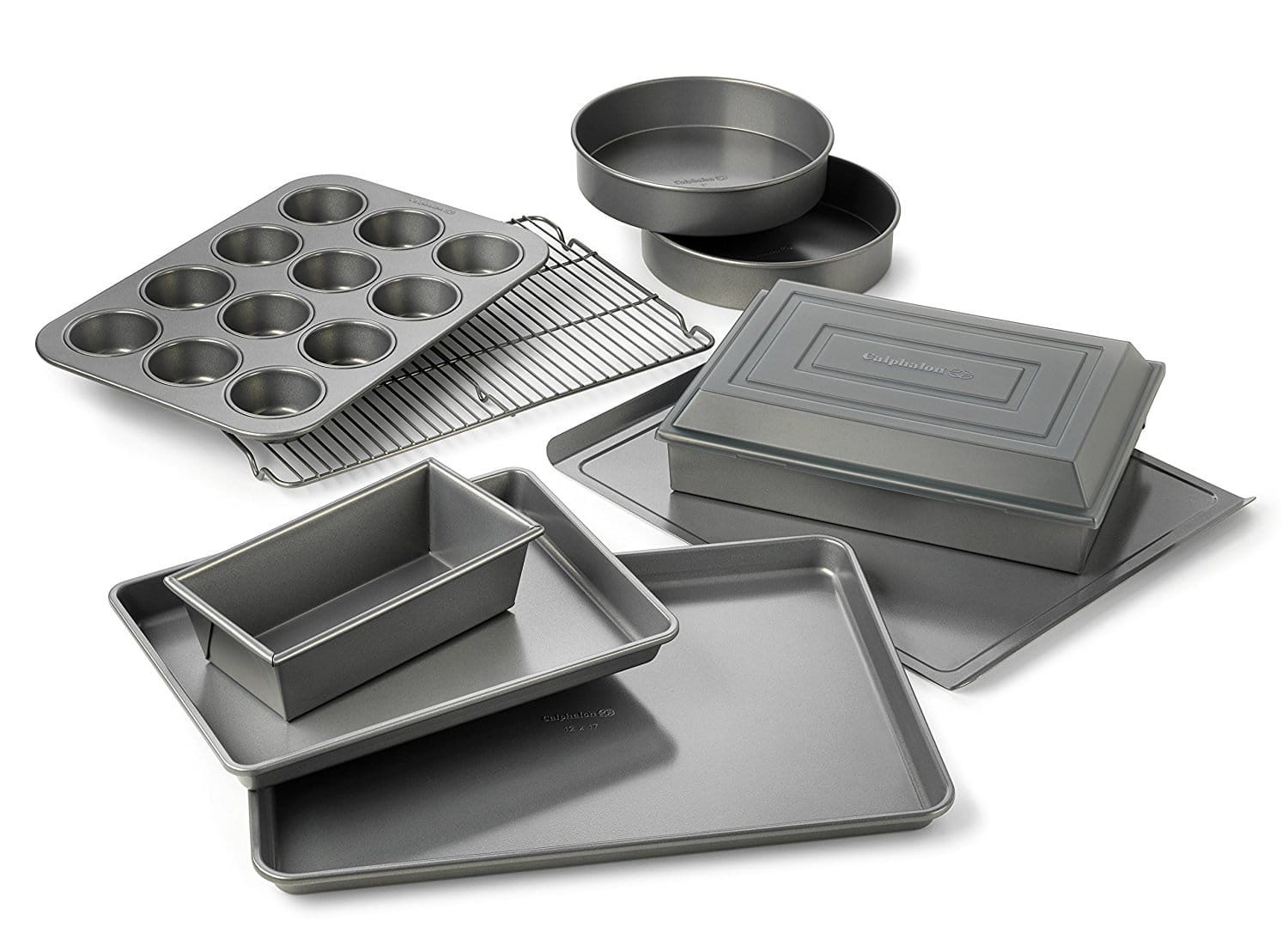 Calphalon Nonstick Bakeware 10-pc. Bakeware Set --- $52.49+tax Amazon or Macy's