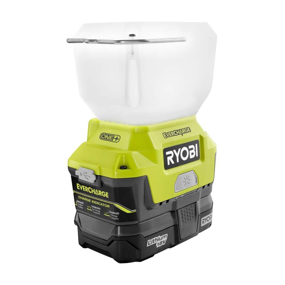 Ryobi Evercharge LED Area Light 18-Volt ONE+ Cordless Wall Mount Adaptor Charger $20.03 Home Depot YMMV