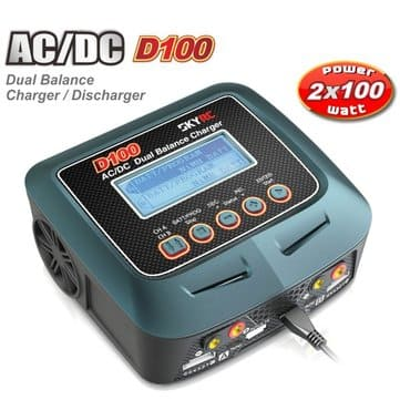 SkyRC D100 2 x 100W LiPo LiHV NiMH Battery AC DC Dual Balance Charger from Banggood.com CN warehouse for $79.99