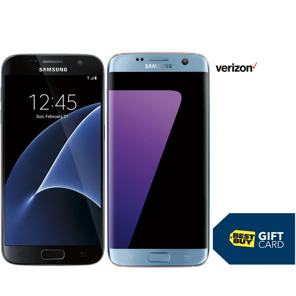 Galaxy S7 (Verizon) - FREE + $400 Best Buy Gift Card + FREE Gear VR (trade in and 24 months service required)