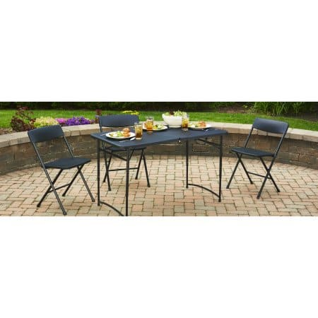 Mainstays 48in x 24in; Fold-in-Half Table (Black) - w/ Free Ship-To-Store $17.70