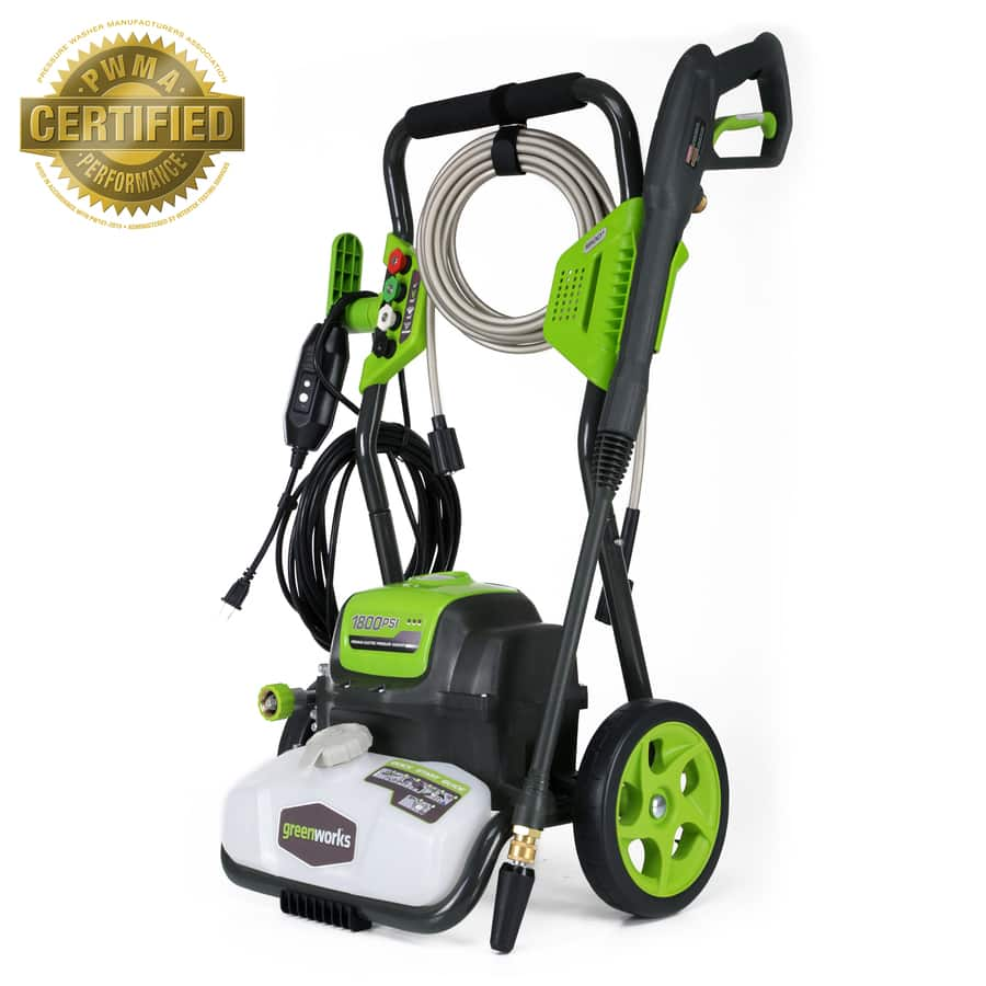 Lowe's - Greenworks 1800-PSI 1.1-Gallon-GPM Cold Water Electric Pressure Washer $99