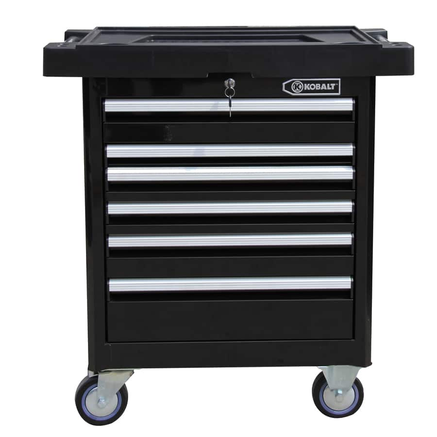 Kobalt Tool Cabinet >> Lowe S Kobalt 6 Drawer Ball Bearing Tool Cabinet With Steel Tool