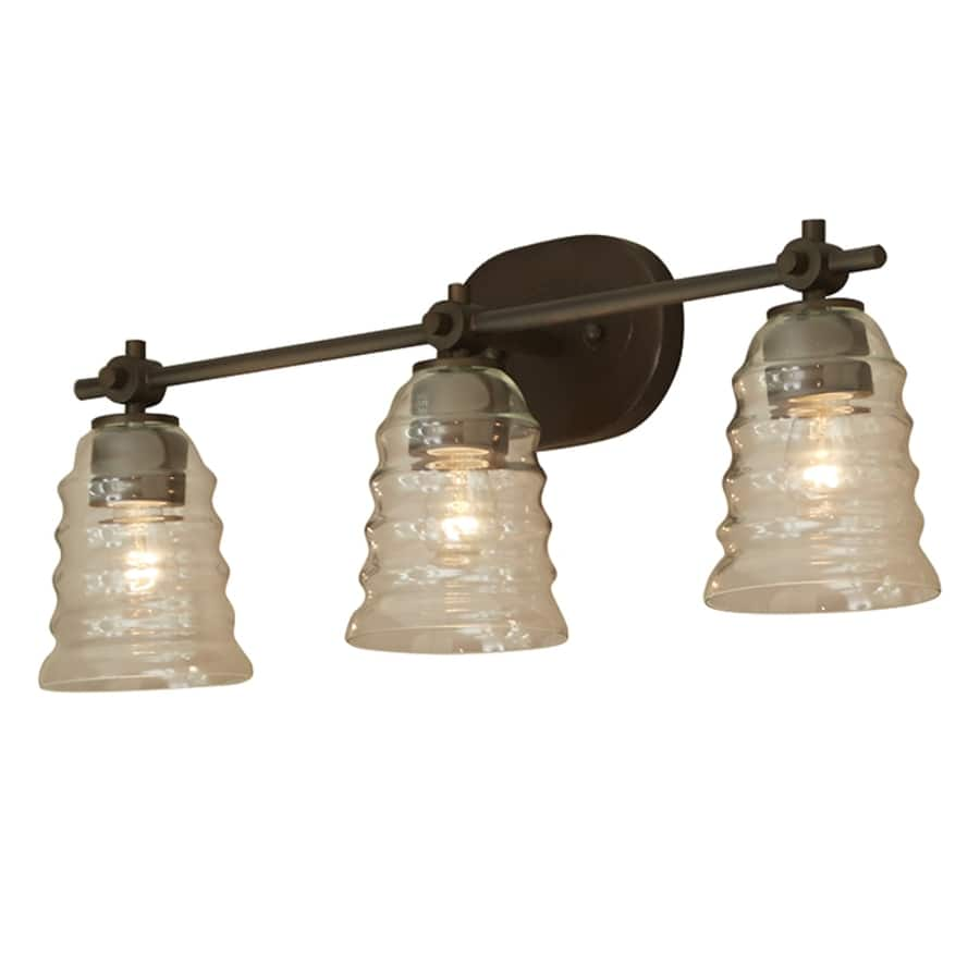Lowe's - allen + roth Elham 3-Light 9.28-in Aged Bronze ...