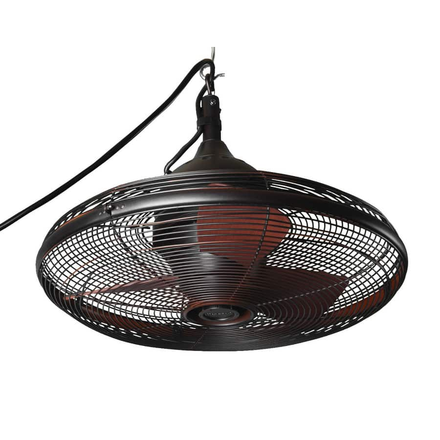 Lowe's - allen + roth Valdosta 20-in Oil rubbed bronze Indoor/Outdoor Downrod Mount Ceiling Fan (3-Blade) $84