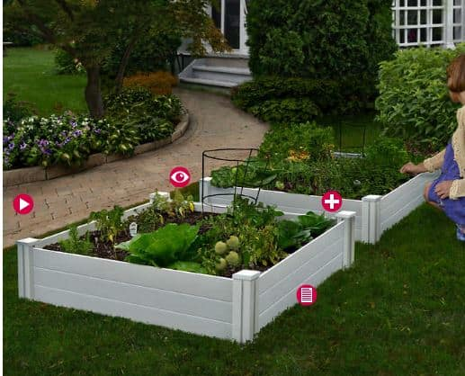 Vinyl Raised Garden Bed  Pack