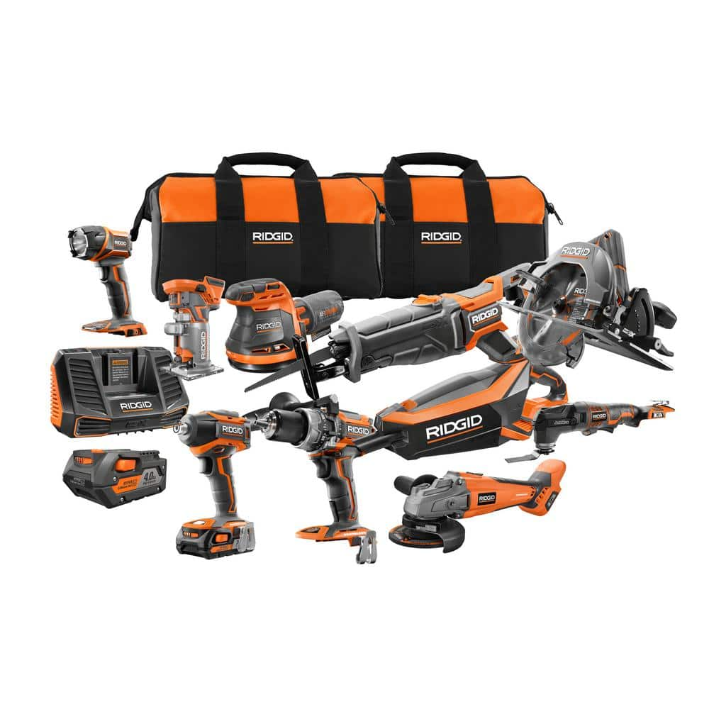 10-Piece Ridgid 18-Volt GEN5X Brushless Combo Kit w/ 2x Batteries $599 + Free Shipping