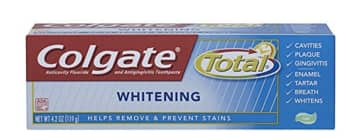 Amazon S&S Colgate Total Whitening Gel Toothpaste, 4.2 Ounce (Pack of 6) for $7.86 or less Prime only