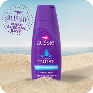 Prime members Amazon add-on item Mega Moist Shampoo 13.5 fl oz (Pack of 6) by Aussie $3.99