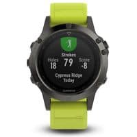 Garmin fenix 5 47mm Multisport GPS Fitness Watch Slate Gray with Amp Yellow Band $351.99