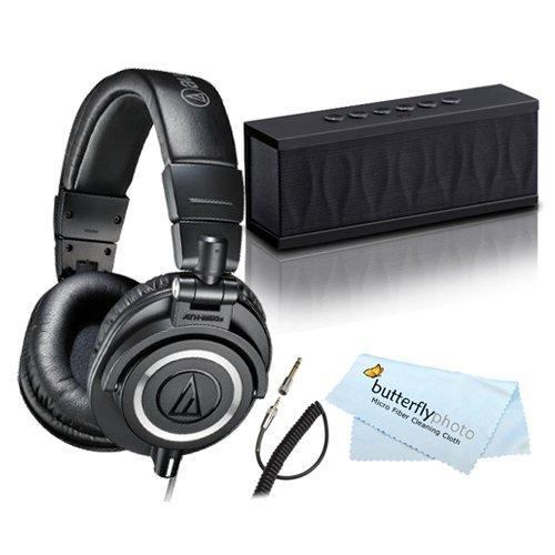 Audio-Technica ATH-M50x Studio Monitor Headphones with bluetooth speaker for 119