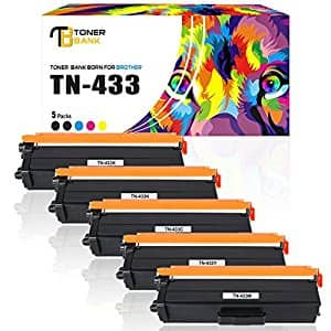 Compatible Toner Cartridge For Brother TN433 TN431 High Yield by Toner Bank $62.99