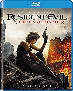 $9.99 Movie: Resident Evil: The Final Chapter [Blu-ray]