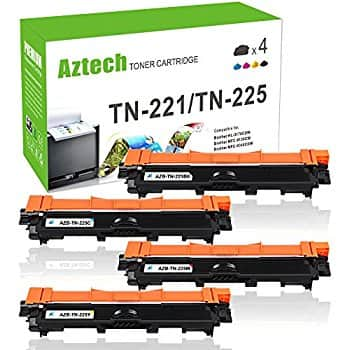 $32.99 Aztech Compatible Toner Cartridges for Brother TN 221 and TN225 4-Color Set