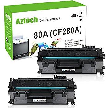 $17.5 2 Pack Aztech Compatible Toner Cartridges for HP Laserjet 80A CF280A