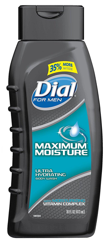 $1.38 Add-on: Dial for Men Body Wash, Maximum Moisture, 16 Fluid Ounces